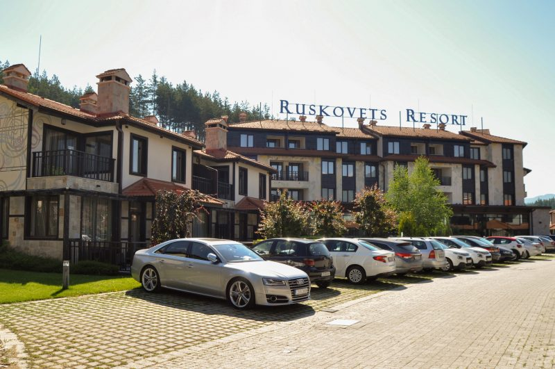 Ruskovets resort parking