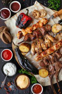 няколко вида меса